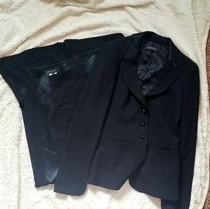 Escada Wool/Silk Black Suit